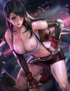 Rating: Questionable Score: 160 Tags: autographed breasts final_fantasy final_fantasy_vii nipples no_bra open_shirt sakimichan tifa_lockhart User: Mr_GT