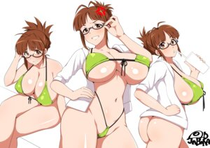 Rating: Questionable Score: 30 Tags: akizuki_ritsuko ass bikini cleavage jabara_tornado megane open_shirt swimsuits the_idolm@ster thong underboob User: saemonnokami