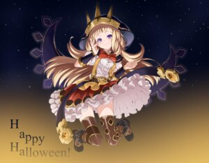 Rating: Safe Score: 33 Tags: cagliostro_(granblue_fantasy) granblue_fantasy halloween heels pantsu roppongi_shinju thighhighs User: nphuongsun93