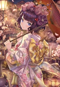 Rating: Safe Score: 71 Tags: fate/grand_order katsushika_hokusai_(fate/grand_order) kimono torino_akua umbrella User: BattlequeenYume