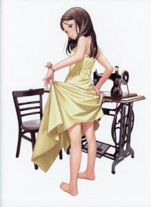 Rating: Safe Score: 37 Tags: dress range_murata skirt_lift summer_dress User: Radioactive