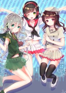Rating: Safe Score: 25 Tags: ekimemo!_-station_memories!- headphones hoshi_no_yurara seifuku thighhighs User: Mr_GT