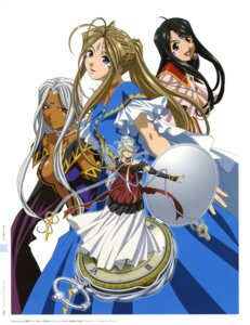 Rating: Safe Score: 12 Tags: ah_my_goddess belldandy cleavage matsubara_hidenori skuld urd User: Radioactive