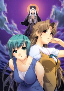 Rating: Safe Score: 15 Tags: alea ino kuu_kagami nun ren_asao sister_mei User: Wraith
