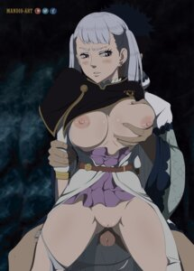 Rating: Explicit Score: 14 Tags: black_clover breast_grab breasts mandio_art nipples no_bra noelle_silva open_shirt pantsu panty_pull penis pussy skirt_lift string_panties uncensored User: hkr008