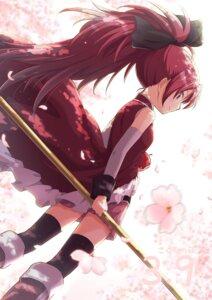 Rating: Safe Score: 20 Tags: dress puella_magi_madoka_magica sakura_kyouko skirt_lift tagme thighhighs weapon User: Spidey