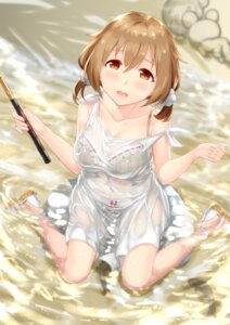 Rating: Questionable Score: 40 Tags: bra cleavage dress pantsu satoshiki see_through summer_dress wet wet_clothes User: mash
