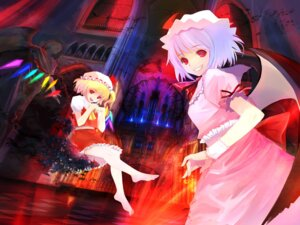 Rating: Safe Score: 15 Tags: flandre_scarlet remilia_scarlet takashima touhou wallpaper wings User: bunnygirl
