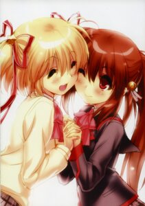 Rating: Safe Score: 11 Tags: kamikita_komari little_busters! natsume_rin seifuku sweater zen User: kiyoe