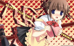 Rating: Safe Score: 33 Tags: hulotte ikegami_akane tezuka_yumimi valentine wallpaper with_ribbon User: blooregardo