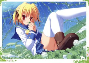 Rating: Questionable Score: 38 Tags: clover_point fixed seifuku takanashi_yaya thighhighs yuyi User: castle