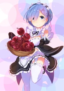 Rating: Safe Score: 56 Tags: cleavage maid re_zero_kara_hajimeru_isekai_seikatsu rem_(re_zero) sa/tsu/ki stockings thighhighs User: Mr_GT