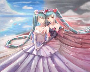 Rating: Safe Score: 50 Tags: cleavage dress hatsune_miku nick_(nikek96) vocaloid User: Mr_GT