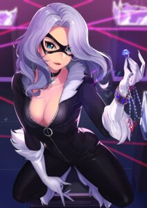Rating: Questionable Score: 30 Tags: black_cat_(marvel) bodysuit cleavage kagematsuri marvel no_bra open_shirt User: Mr_GT