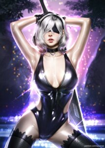 Rating: Safe Score: 14 Tags: ayyasap cleavage nier_automata possible_duplicate swimsuits sword thighhighs yorha_no.2_type_b User: charunetra