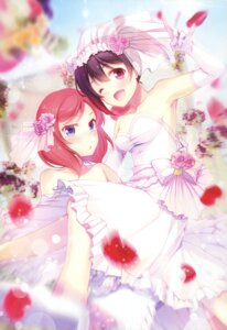 Rating: Safe Score: 55 Tags: dress gunp love_live! nishikino_maki wedding_dress yazawa_nico yuri User: Twinsenzw