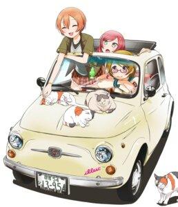 Rating: Safe Score: 30 Tags: hoshizora_rin koizumi_hanayo love_live! megane neko nishikino_maki seifuku sweeter User: blooregardo