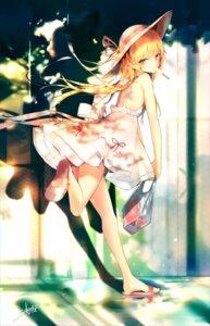 Rating: Safe Score: 66 Tags: bakemonogatari dress oshino_shinobu pointy_ears sakusyo summer_dress tagme User: hiroimo2