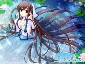 Rating: Questionable Score: 79 Tags: cabbit cleavage dress erect_nipples michiru_(midori_no_umi) midori_no_umi saeki_hokuto wallpaper wet_clothes User: van