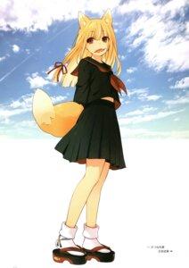 Rating: Safe Score: 18 Tags: animal_ears seifuku tail tsunako User: Nepcoheart