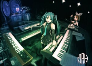 Rating: Safe Score: 13 Tags: hachune_miku hatsune_miku kagamine_rin shinichi_tahara vocaloid User: Radioactive