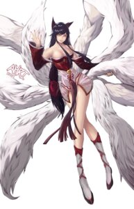 Rating: Safe Score: 38 Tags: ahri animal_ears bunny15539 cleavage kitsune league_of_legends tail User: charunetra