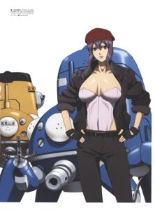 Rating: Questionable Score: 8 Tags: cleavage ghost_in_the_shell ghost_in_the_shell:_stand_alone_complex leotard mecha nishio_tetsuya open_shirt User: Radioactive