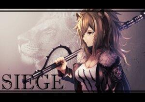 Rating: Safe Score: 8 Tags: animal_ears arknights cleavage noan siege_(arknights) weapon User: Dreista