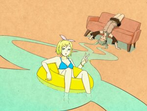 Rating: Safe Score: 4 Tags: bikini hatsune_miku kagamine_rin nihohe swimsuits vocaloid User: Radioactive