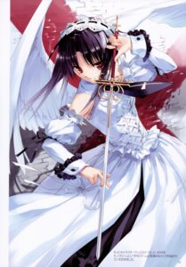 Rating: Safe Score: 24 Tags: dress sword ueda_ryou wings User: midzki