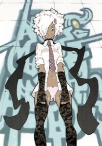 Rating: Questionable Score: 21 Tags: dress_shirt jpeg_artifacts no_more_heroes ohkubo_atsushi pantsu shinobu_jacobs thighhighs User: fireattack