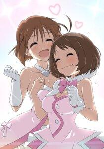 Rating: Safe Score: 19 Tags: cleavage dress hagiwara_yukiho hidaka_ai tagme the_idolm@ster User: Radioactive