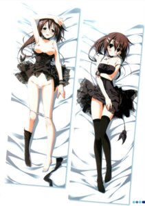Rating: Explicit Score: 7 Tags: breast_hold breasts cleavage dakimakura dress kagome nipples open_shirt pantsu panty_pull pussy_juice thighhighs User: syk111