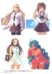 Rating: Safe Score: 3 Tags: cleavage dress jiji seifuku summer_dress thighhighs User: crim