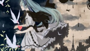 Rating: Safe Score: 18 Tags: anbivarens dress hatsune_miku vocaloid wallpaper User: hobbito