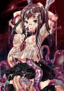 Rating: Explicit Score: 84 Tags: bosshi cum extreme_content megane see_through tentacles User: Nazzrie