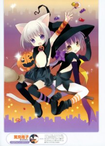 Rating: Questionable Score: 30 Tags: animal_ears halloween loli nekomimi no_bra nopan tail tokumi_yuiko witch User: crim