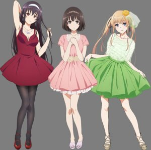 Rating: Questionable Score: 96 Tags: cleavage dress kasumigaoka_utaha katou_megumi pantyhose saenai_heroine_no_sodatekata sawamura_spencer_eriri see_through transparent_png User: megurimareta