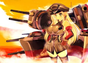 Rating: Safe Score: 18 Tags: bismarck_(kancolle) jpeg_artifacts kantai_collection sakaki_(artist) thighhighs User: morizou