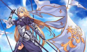 Rating: Safe Score: 34 Tags: akira_(artist) armor dress fate/apocrypha fate/stay_night jeanne_d'arc jeanne_d'arc_(fate) sword thighhighs weapon User: Mr_GT
