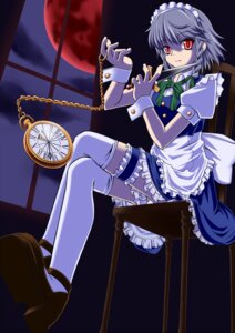 Rating: Safe Score: 10 Tags: garter izayoi_sakuya kisaragi18 maid thighhighs touhou User: Mr_GT