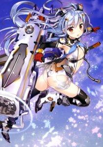 Rating: Safe Score: 70 Tags: ass fujima_takuya heels leotard no_bra see_through sword thighhighs weapon User: drop