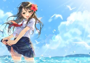 Rating: Safe Score: 68 Tags: morikura_en see_through seifuku skirt_lift wet wet_clothes User: Mr_GT