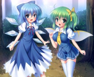 Rating: Safe Score: 26 Tags: cirno daiyousei takeponi_an thighhighs touhou wings User: 椎名深夏