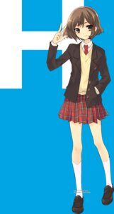 Rating: Safe Score: 38 Tags: ito_noizi sasaki seifuku suzumiya_haruhi_no_yuuutsu User: Driger