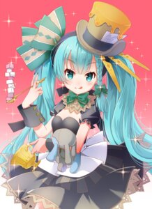 Rating: Safe Score: 24 Tags: alice_in_wonderland cleavage dress hatsune_miku mad_hatter sakura_(superbunnys) vocaloid User: Mr_GT