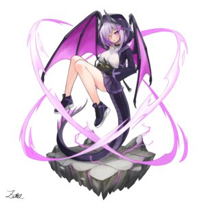 Rating: Questionable Score: 15 Tags: horns monster monster_girl pantsu shimapan skirt_lift tagme tail wings User: dick_dickinson