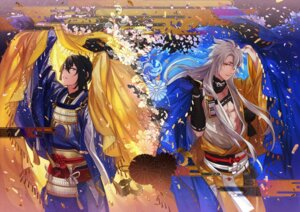 Rating: Safe Score: 5 Tags: asian_clothes kogitsunemaru male mikazuki_munechika tayuya1130 touken_ranbu User: charunetra