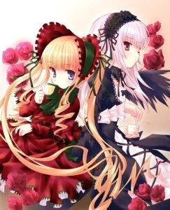 Rating: Safe Score: 32 Tags: aoi_kumiko lolita_fashion rozen_maiden shinku suigintou User: Debbie