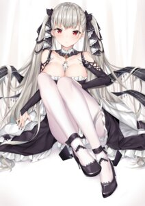 Rating: Questionable Score: 39 Tags: azur_lane breast_hold cleavage coffeedog formidable_(azur_lane) gothic_lolita heels lolita_fashion no_bra pantyhose skirt_lift User: Dreista